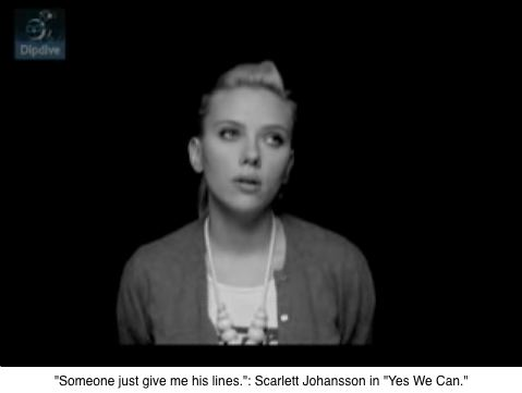 "Scarlett Johansson, ""Yes We Can"""