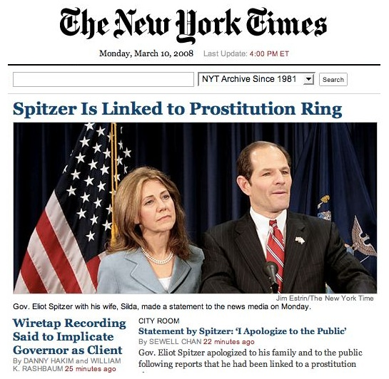 Spitzer NY Times coverage