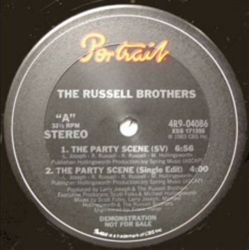 Russell Brothers label artwork