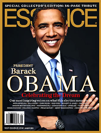Barack Obama January 2009 ESSENCE magazine cover