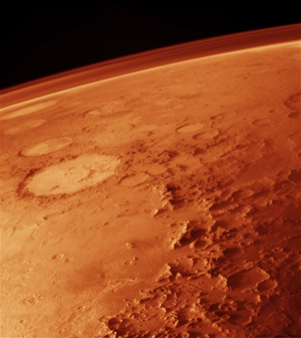 Mars as seen from orbit