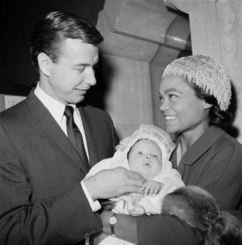 Eartha Kitt, husband John William McDonald, and baby, Kitt