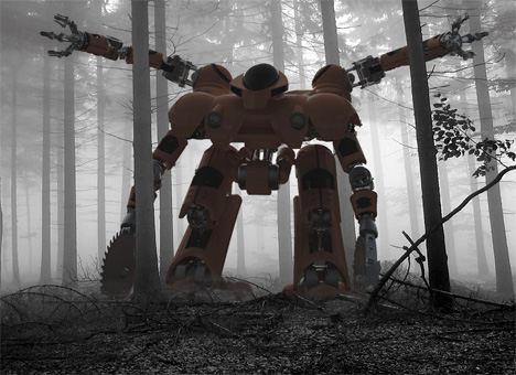 """Clear Cut"" Forest Fire Robot at work"