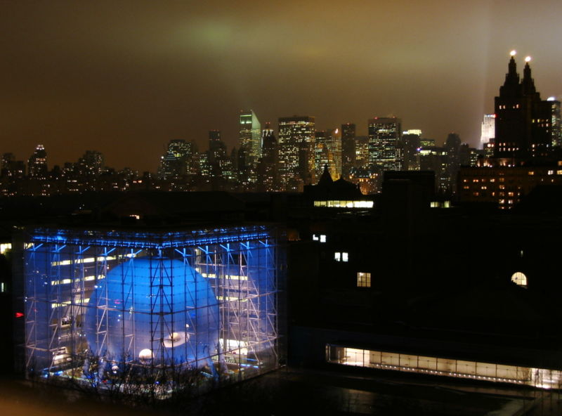 Hayden Planetarium at night