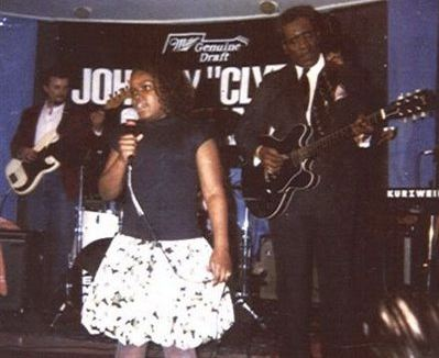 Shemekia Copeland as a child, singing with father Johnny Clyde Copeland's band
