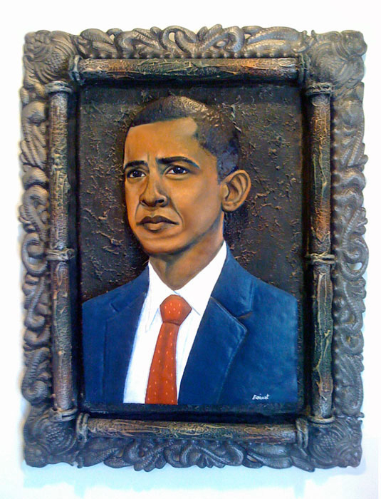 Jean Dukens Boivert's portrait of President Barack Obama