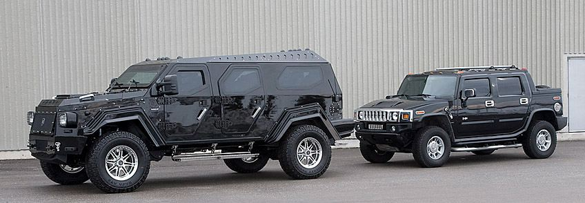 Knight XV compared to Hummer H2